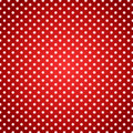 Polka dots red picnic towel background