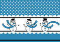 Polka dots Snow and Snowmen Winter Card Stock Photos