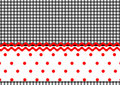 Polka dots stripes Royalty Free Stock Image