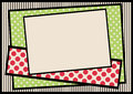 Polka dots and stripes border frame