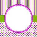 Polka dots and stripes circular border frame