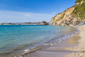 Polkerris cornwall beach at england uk Royalty Free Stock Photo