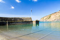 Polkerris cornwall harbour and beach at england uk Royalty Free Stock Photos