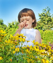 Pollen fever allergy Royalty Free Stock Photo