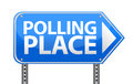 Polling place sign illustration design Stock Photo