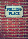 Polling Place Sign On Wall Royalty Free Stock Photo
