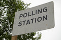 Polling Station Sign, UK Gener...