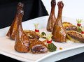 Pollo e duck platter Immagine Stock