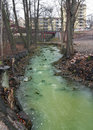 Polluted River Royalty Free Stock Photo
