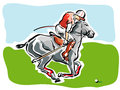 Polo Player Royalty Free Stock Images