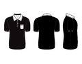 Polo shirt design templates (front, back and side views) Royalty Free Stock Photo