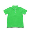 Polo Shirt green isolated Royalty Free Stock Photo
