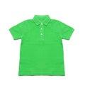 Polo Shirt green isolated Royalty Free Stock Photo