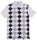 Polo shirt with rhombus Royalty Free Stock Photo