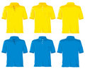 Polo shirt set. Yellow & blue Royalty Free Stock Image