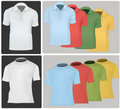 Polo shirts and T-shirts. Royalty Free Stock Photography