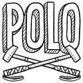 Polo sketch Stock Image