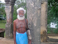 Polonnaruwa man an elderly sri lankan in the ancient city of a unesco world heritage site Royalty Free Stock Images