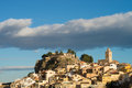 Polop sunshine on old town on a late afternoon costa blanca spain Royalty Free Stock Photo