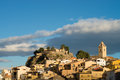 Polop sunshine on old town on a late afternoon costa blanca spain Royalty Free Stock Photos
