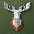 Poly elk head Royalty Free Stock Photo