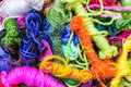 Polyester thread colors in various vivid colours Stock Photos