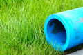 Polyethylene water pipes Stock Photos