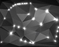 Polygon abstract monochrome background your design Stock Images