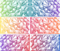 Polygon Abstract Polygonal Geometric Triangle Multicolored Green Yellow Orange Blue Red Pink Purple Violet Backgrounds Royalty Free Stock Photo