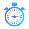 Polygon blue icon stopwatch