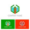 Polygon building company logo company logo
