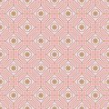 Polygon line flower pastel symmetry seamless pattern