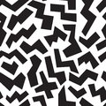 POLYGON SHAPE MEMPHIS STYLE SEAMLESS PATTERN. GEOMETRIC ELEMENTS TEXTURE. 80S-90S DESIGN ON WHITE BACKGROUND.