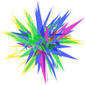 Polygon sharp object abstract colourful vector illustration Stock Photos