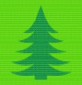 Polygon style christmas fir tree matt inlay variant vector template for your design Royalty Free Stock Photography