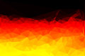 Polygon vector flag of Germany Royalty Free Stock Photo