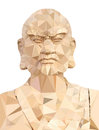 Polygon Vector of Wooden Buddha Royalty Free Stock Photo
