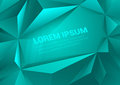 Polygonal aquamarine vector abstract background template triangle shapes blue mockup with space for text polygons backgrounds Royalty Free Stock Image