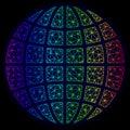 Polygonal Carcass Spectrum Mesh Vector Globe