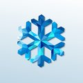 Polygonal christmas snowflake vector illustration this is file of eps format Royalty Free Stock Images