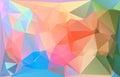 Polygonal colorful horizontal template