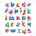 Polygonal font, alphabet