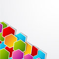 Polygonal introduction colored shape with gray background Stock Image