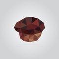 Polygonal muffin illustration