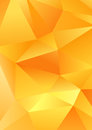 Polygonal triangle shapes vector abstract yellow background template Royalty Free Stock Photo