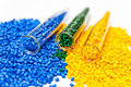 Polymeric dye. Colorant for plastics. Pigment in the granules. Royalty Free Stock Photo