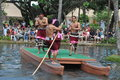 Polynesian cultural center in oahu hawaii canoe pageant at the it is one of s top attractions within simulated tropical Royalty Free Stock Photography