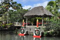 Polynesian cultural center in oahu hawaii dec as seen on december the is owned by the the church of jesus Stock Image