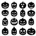 Jack O Lantern Carved Pumpkin Icons