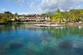 Polynesian landscape-  Azure lagoon Stock Photo
